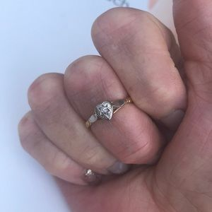 Jewelry - 18K Victorian Antique Diamond Engagement Ring